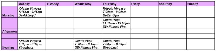 Timetable July16