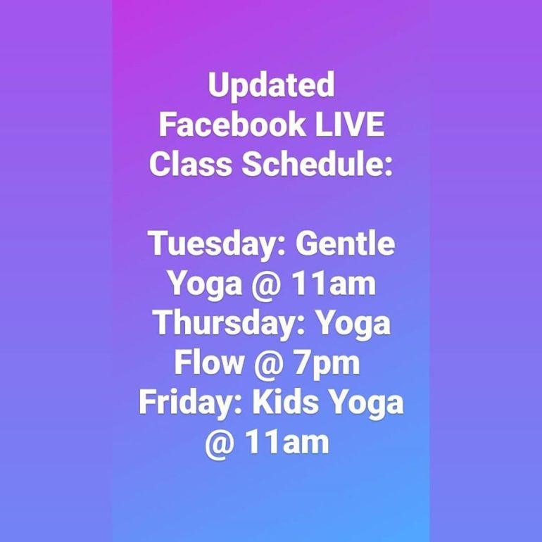 Facebook Live Schedule